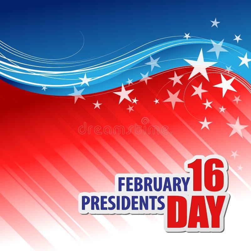Presidents Day Vector Background stock illustration