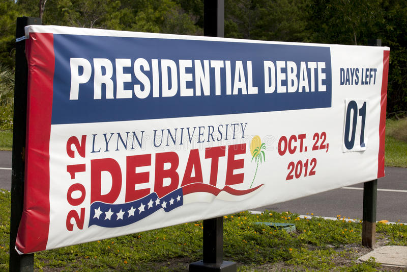 Presidents- debatt royaltyfri foto