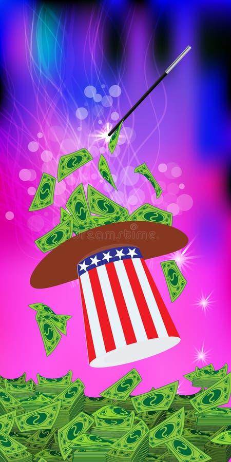 PRESIDENTS- HATTAR USA MAGI OCH MIRAKEL vektor illustrationer