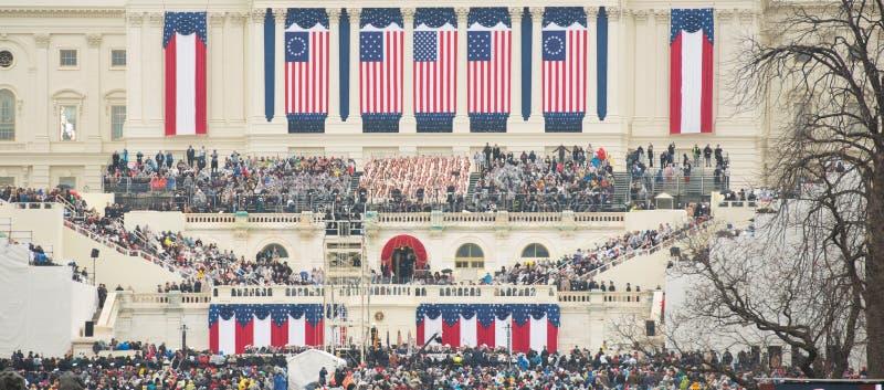 Presidents- invigning av Donald Trump arkivbilder