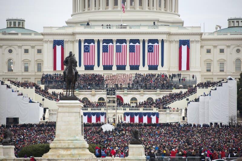 Presidents- invigning av Donald Trump royaltyfria foton