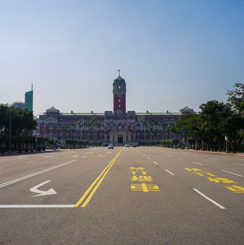Presidents- kontorsbyggnad av ROC Republic av Kina i Taipei Taiwan arkivfoto
