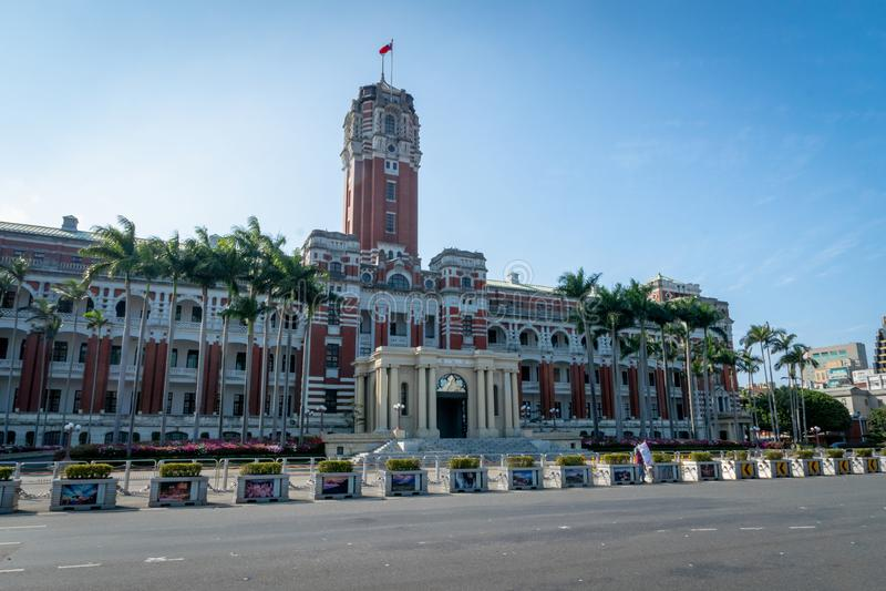 Presidents- kontorsbyggnad i Taipei, Taiwan arkivbilder