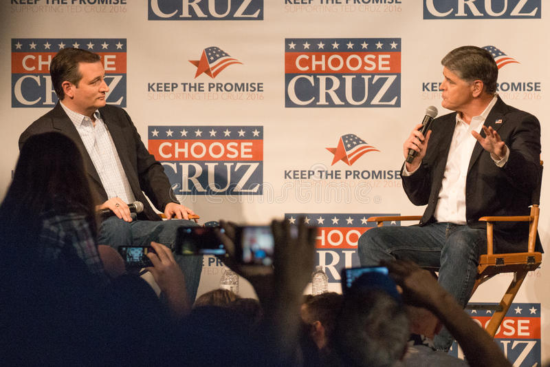 Presidents- lovande person Ted Cruz Supporters arkivfoton