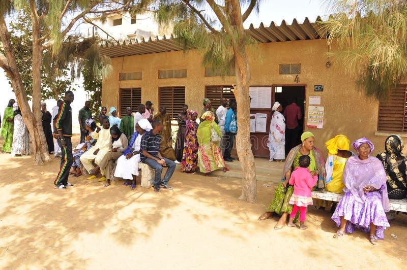 presidents- senegal för 2012 val röstning fotografering för bildbyråer