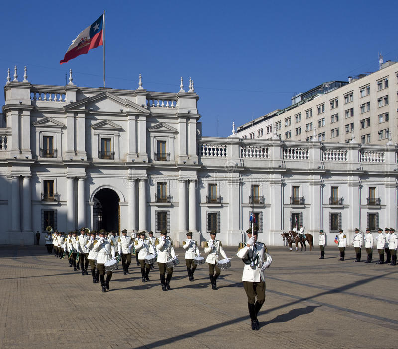 Presidents- slott i Santiago - Chile arkivfoto