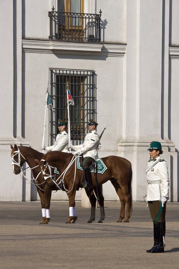 Presidents- slott i Santiago - Chile fotografering för bildbyråer