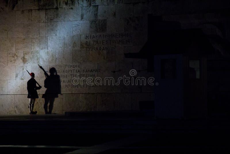 Presidents- vakt på den okända soldaten Monument royaltyfria bilder