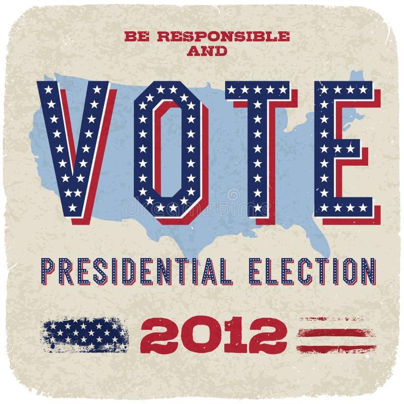 presidents- val 2012 stock illustrationer