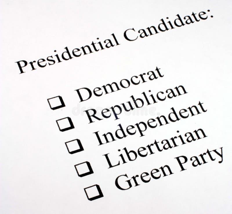 presidents- val för kandidat royaltyfria foton