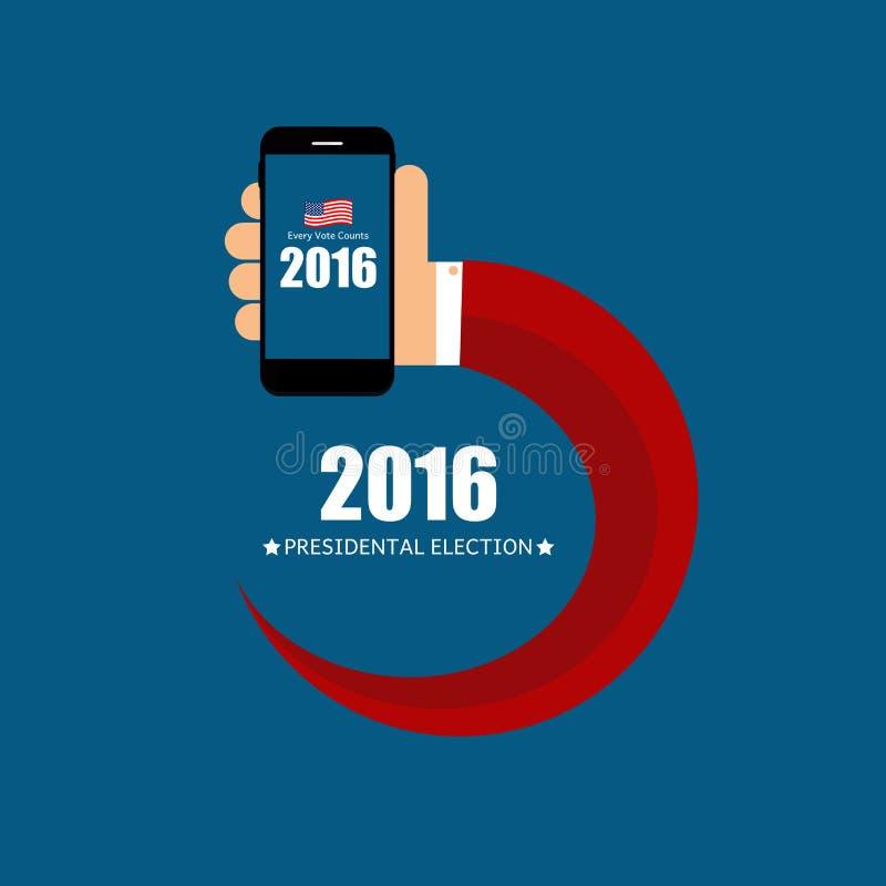 Presidentsverkiezing 2016 op de Achtergrond van de V.S. Kan als Verbod worden gebruikt vector illustratie