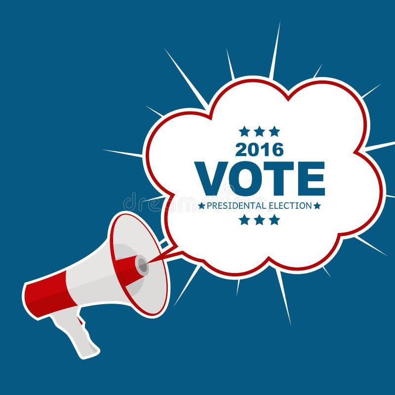 Presidentsverkiezingstem 2016 op de Achtergrond van de V.S. Kan gebruikte a zijn royalty-vrije illustratie