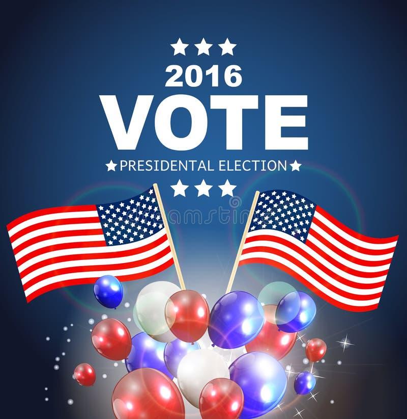 Presidentsverkiezingstem 2016 op de Achtergrond van de V.S. Kan gebruikte a zijn vector illustratie