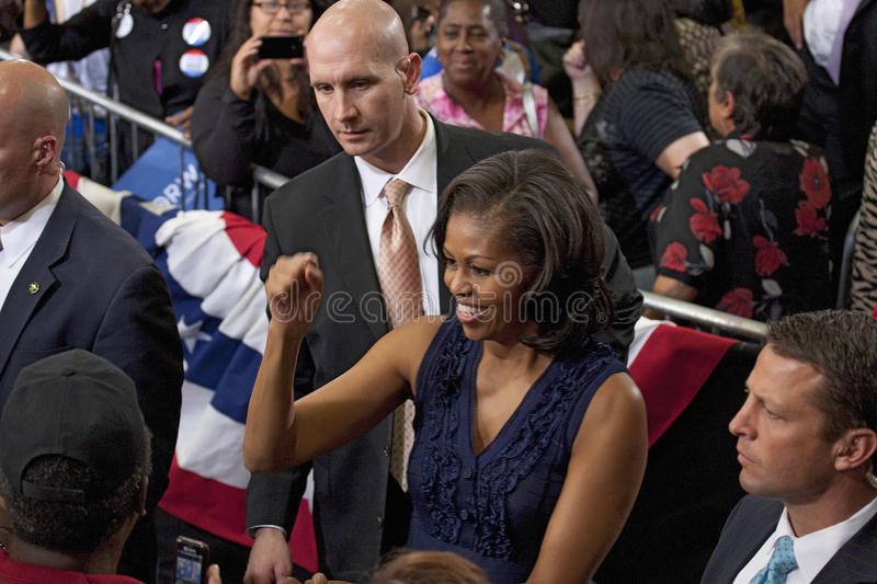 Presidentsvrouw Michelle Obama stock foto