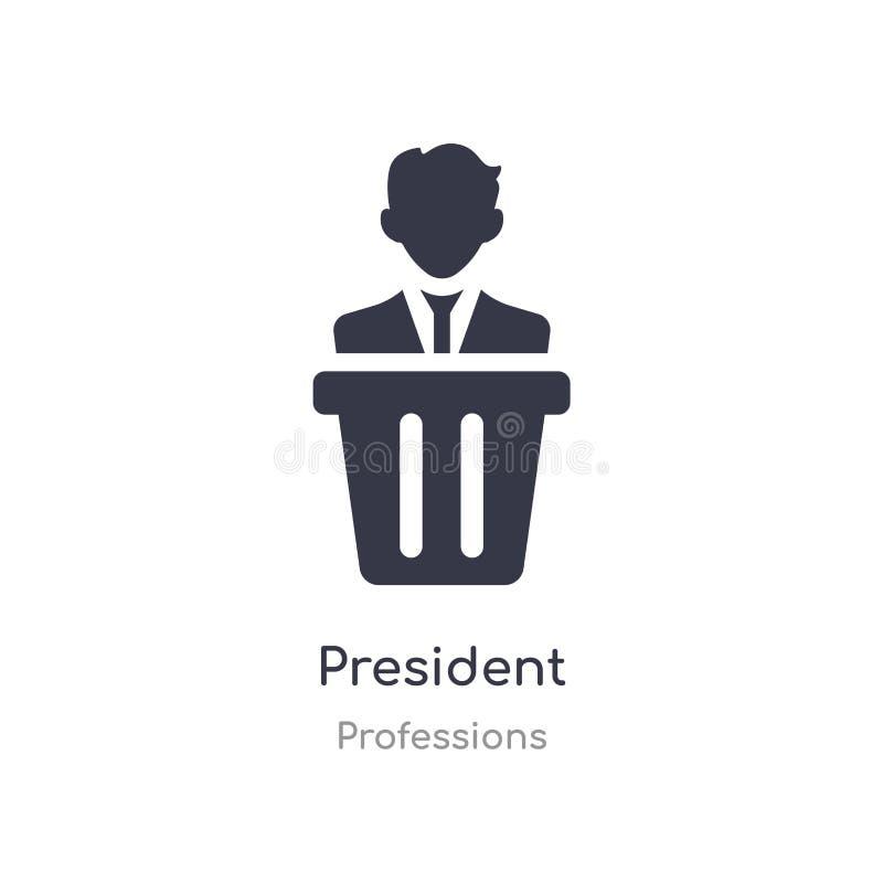 Presidentsymbol isolerad illustration för presidentsymbolsvektor från yrkesamling redigerbart sjunga symbolet kan vara bruk f?r r vektor illustrationer