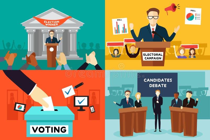 Presidentval royaltyfri illustrationer