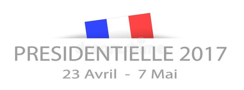 Presidentval 2017 i franskt med data och en delhidd stock illustrationer
