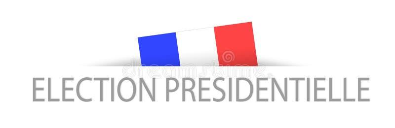 Presidentval i franskt med en del dold fransk flagga vektor illustrationer