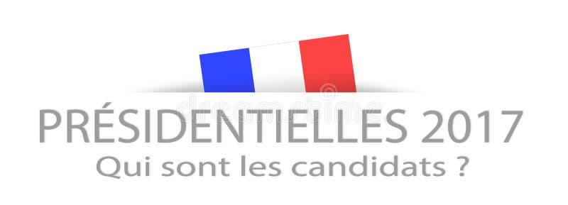 Presidentval och kandidater i franskt med en delhidd vektor illustrationer