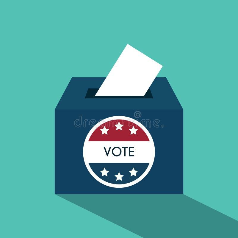 Presidentvaldagen röstar asken Amerikan Flag& x27; s symboliska Ele stock illustrationer