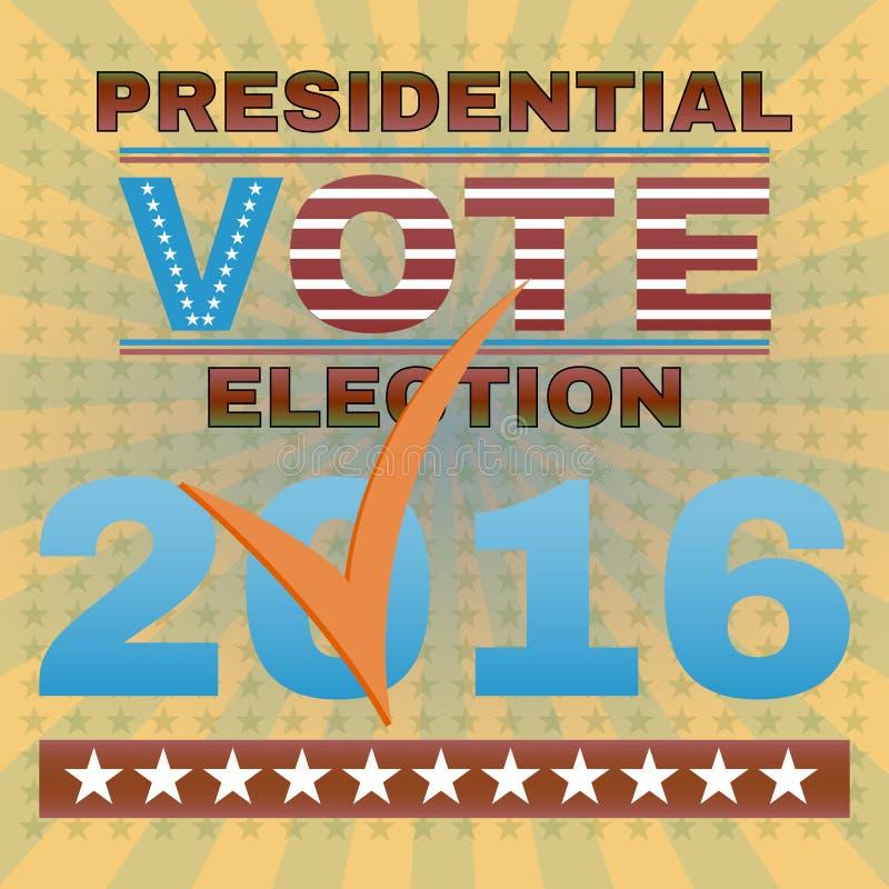 Presidentvalet röstar banret 2016 stock illustrationer