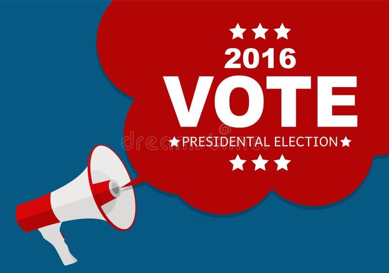 Presidentvalet röstar 2016 i USA bakgrund Vara kan använt a vektor illustrationer