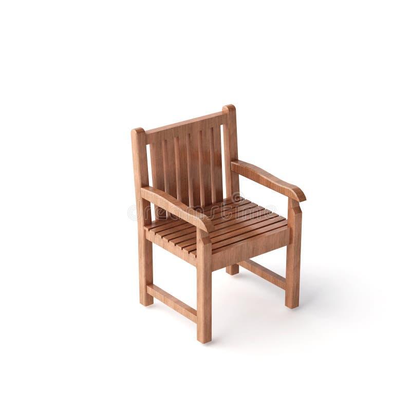 Presidenza di legno isolata illustrazione di stock