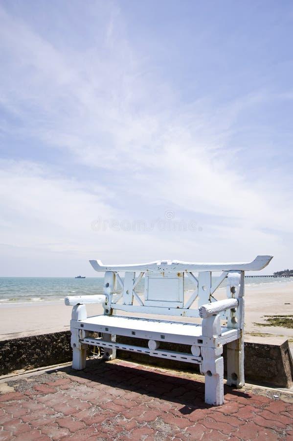 Presidenza di spiaggia fotografie stock