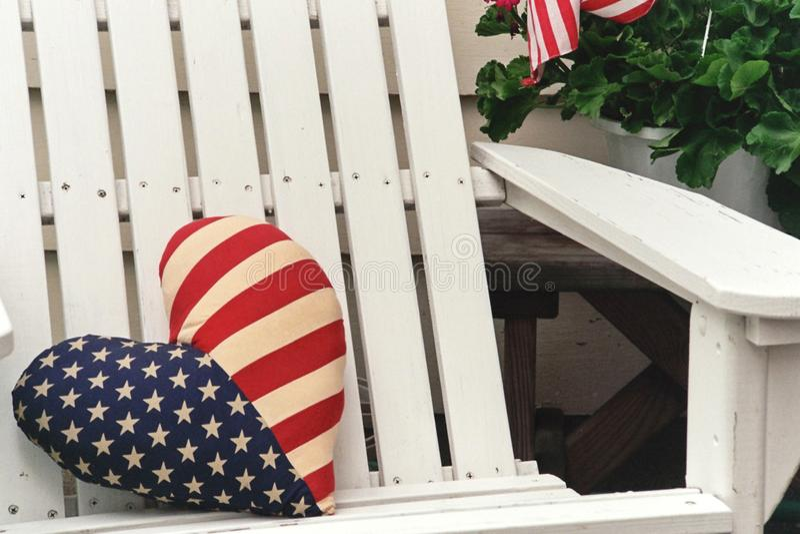 Sedia patriottica fotografie stock libere da diritti