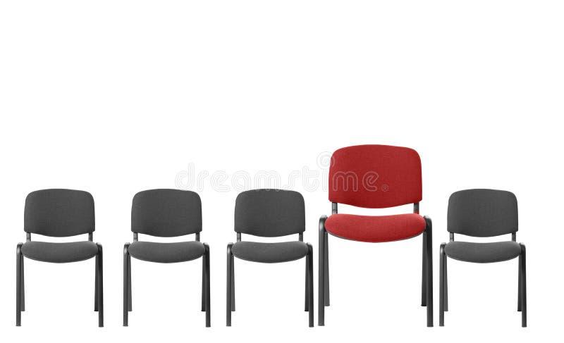 Presidenza rossa unica fotografie stock