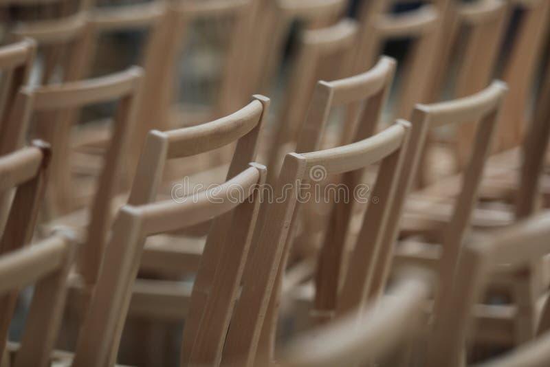 Presidenze di legno immagine stock libera da diritti