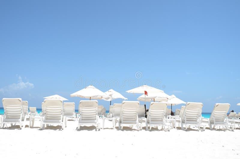 Presidenze di spiaggia fotografia stock