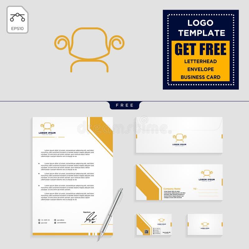 presiderar den inre logomallen och brevpapperdesign vektor illustrationer