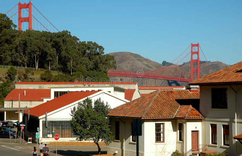 Download Presidio Bridge stock photo. Image of runner, road, tourism - 1408034