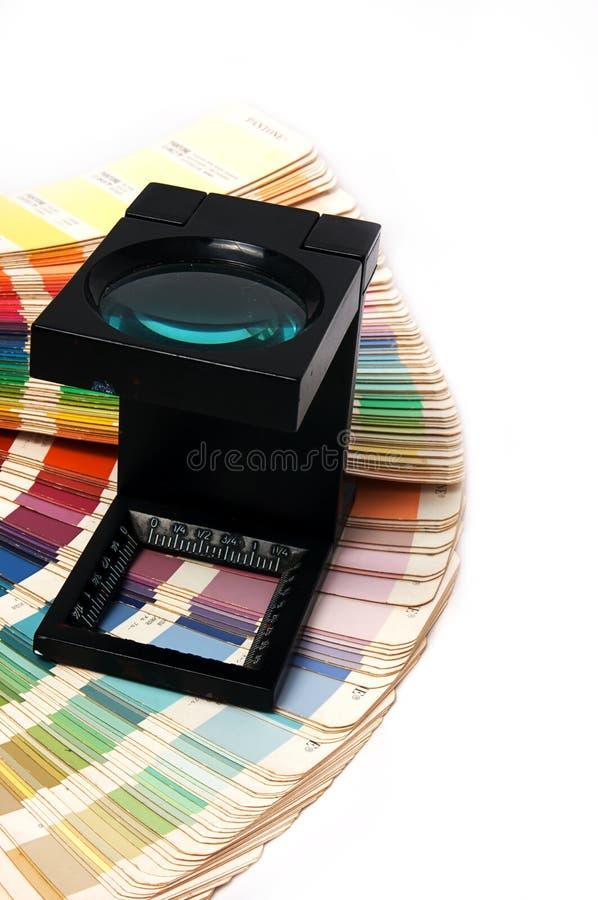 Presione a la gerencia de color foto de archivo