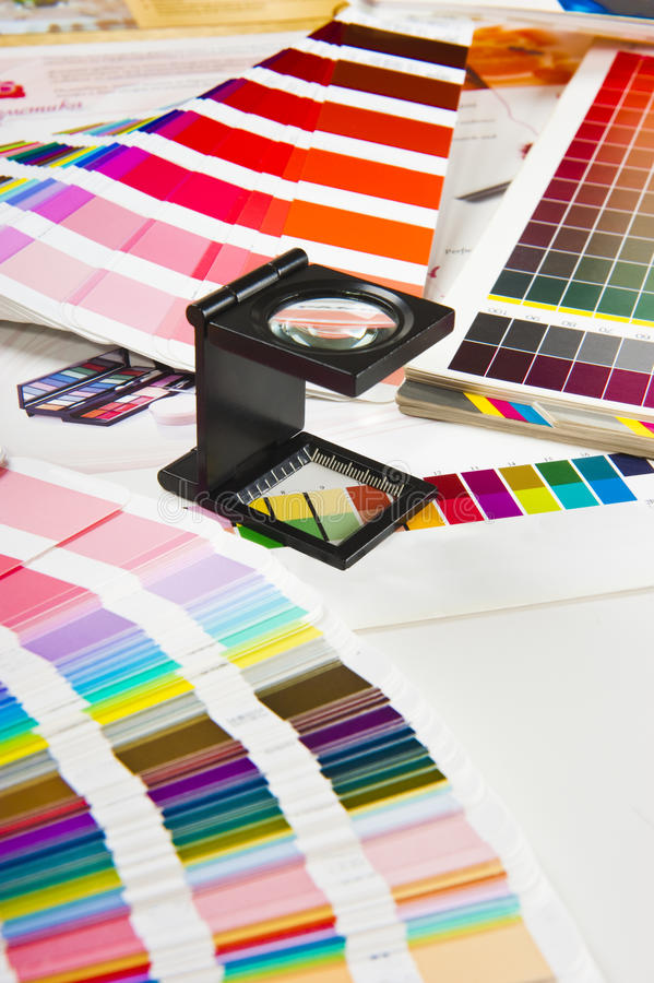 Presione la gerencia de color - producción de la impresión fotografía de archivo libre de regalías