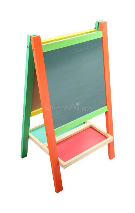 Presione la pizarra verde con el marco del color imágenes de archivo libres de regalías