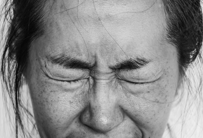 Presione y tema a la mujer imagenes de archivo