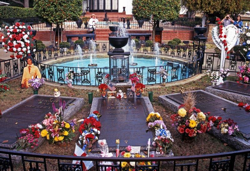 Presley Memorial Garden, Graceland fotos de stock