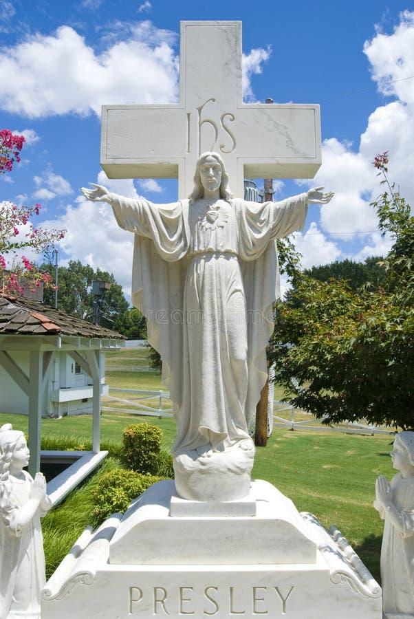 Presley Memorial, Graceland, TN royalty free stock image