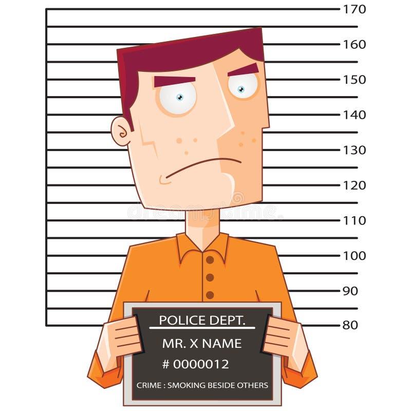 Preso número doce con el tablero de datos de la policía ilustración del vector