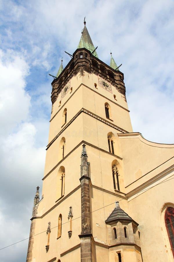 Presov, Slovakia. Roman Catholic Cathedral of St Nicholas stock photo