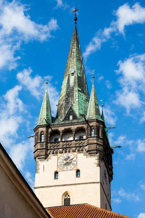 Presov in Slowakije ST Nicholas Church stock foto