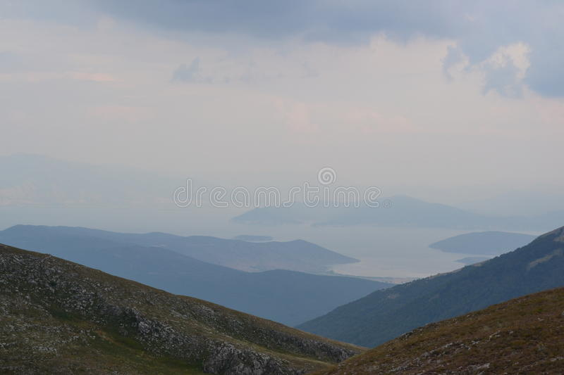 Prespa Lake seen from National Park Galicica stock image