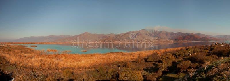 Prespes. The big Prespes lake during midday stock photos