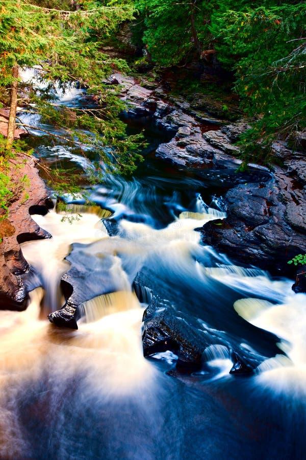 Presque小岛河峡谷 免版税库存照片