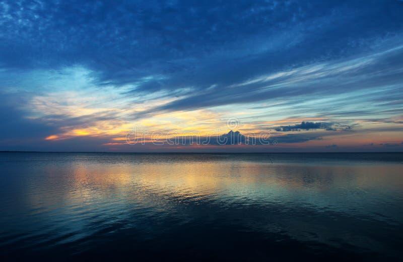 Presque aumônier de sud de coucher du soleil image stock