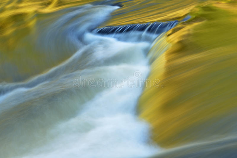 Presque Isle River. Abstract landscape of the Presque Isle River rapids, captured with motion blur, Porcupine Mountains Wilderness State Park, Michigan's Upper stock images