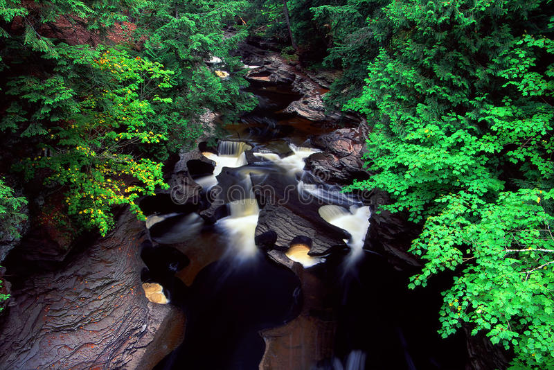 Presque Isle River - Michigan royalty free stock photography