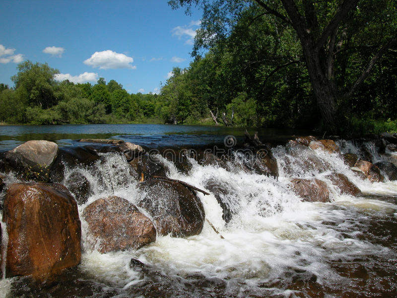 Download Presque isle water fall stock image. Image of rocky, river - 13276723